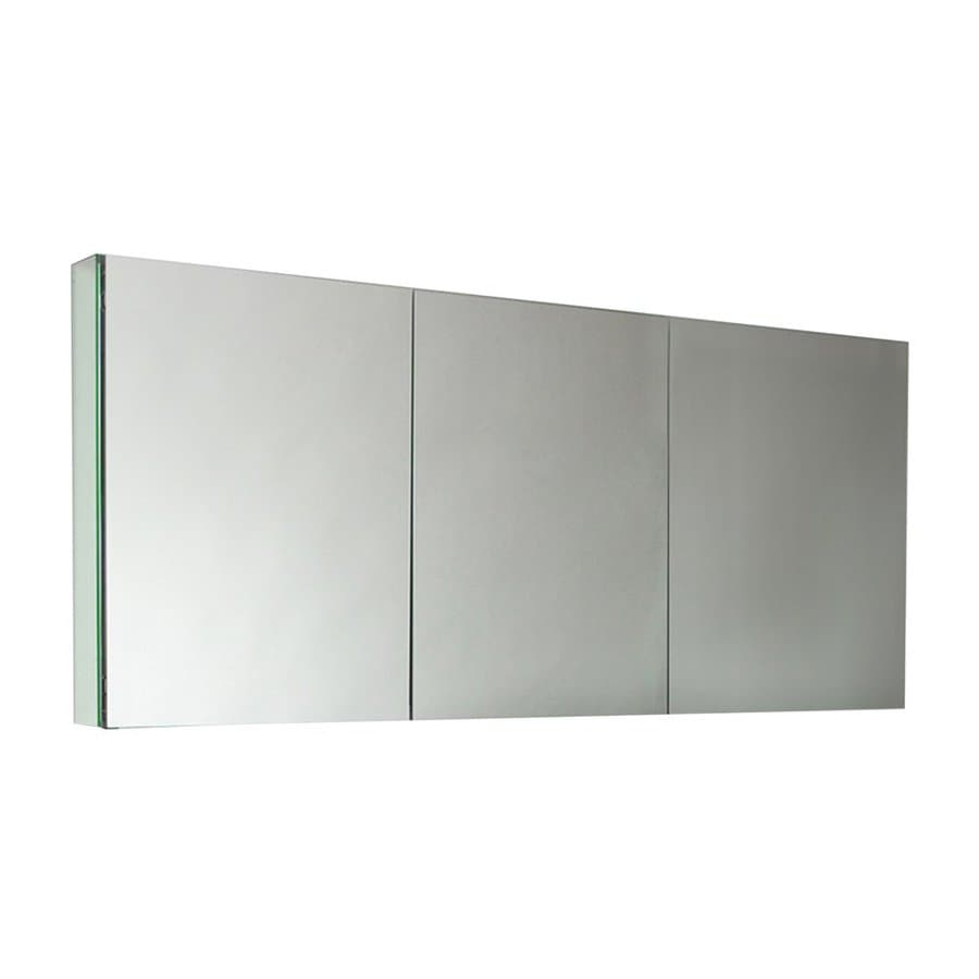 Fresca 59 In X 26 Rectangle Surface Recessed Mirrored Aluminum Medicine Cabinet