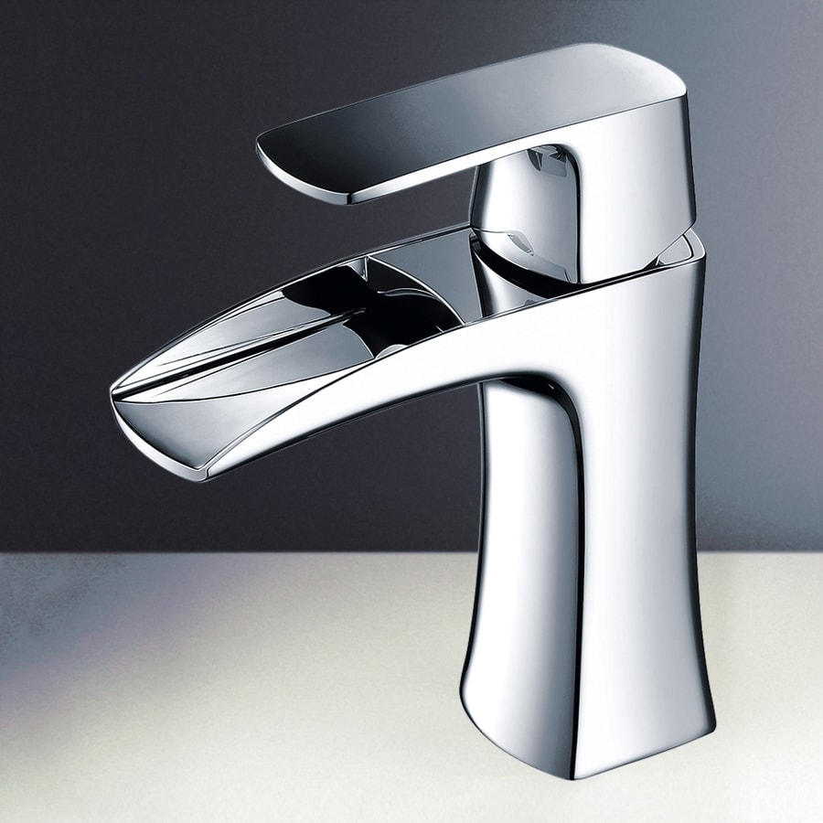 Shop Fresca Fortore Chrome 1-Handle Single Hole Bathroom Faucet at ...