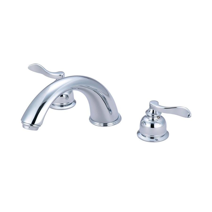 Elements of Design Nuwave Polished Chrome 2-Handle Fixed Freestanding Bathtub Faucet