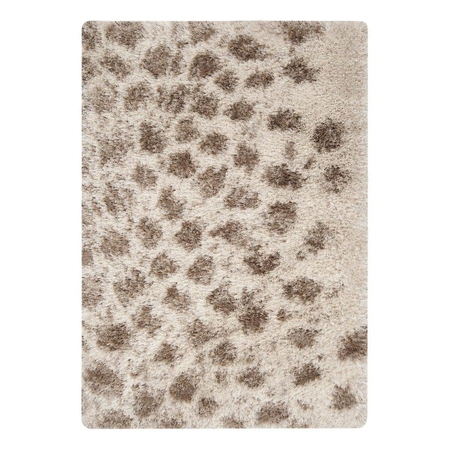 Surya Rhapsody Cream/Dark Brown Rectangular Indoor Machine-Made Animals Throw Rug (Common: 2 x 3; Actual: 2-ft W x 3-ft L)