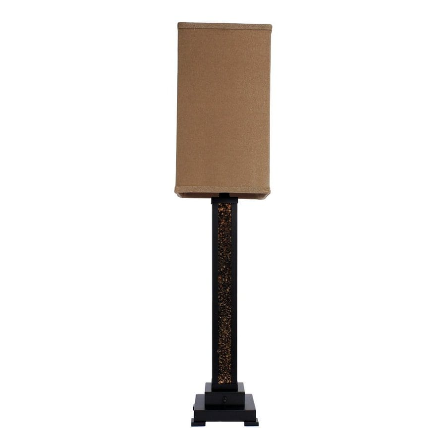 Decor Therapy 39-in Bronze Indoor Table Lamp with Fabric Shade