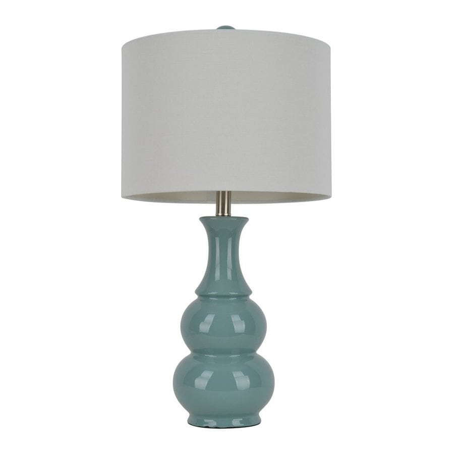 Decor Therapy 26.5-in 3-Way Light Green Indoor Table Lamp with Fabric Shade