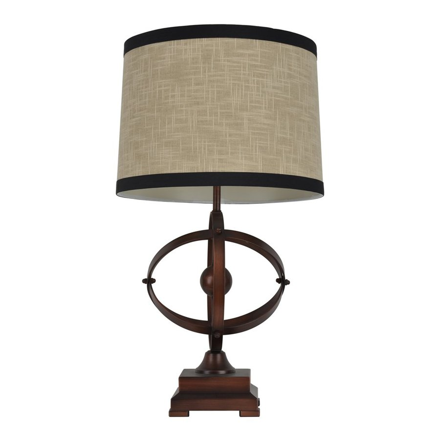 Dcor Therapy 28.5-in 3-Way Brown/Black Indoor Table Lamp with Fabric Shade