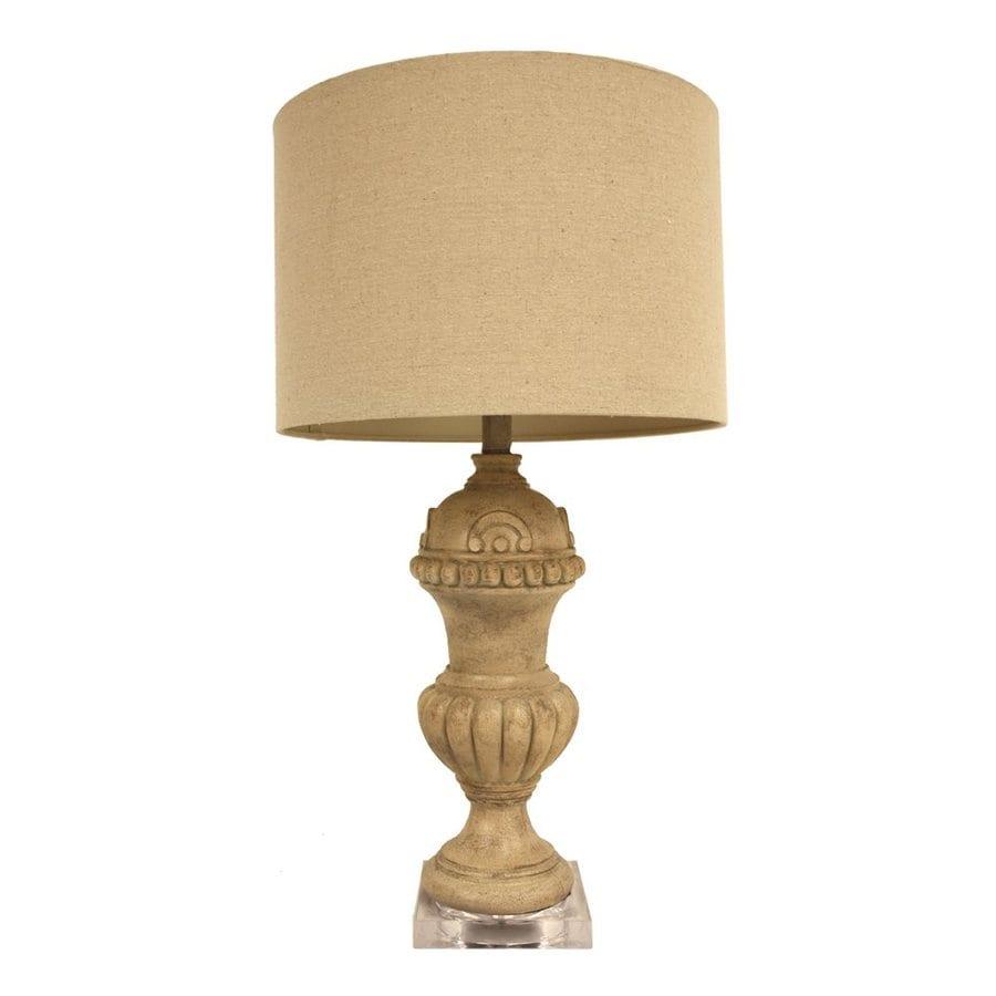 Dcor Therapy 29-in 3-Way Light Tweed Indoor Table Lamp with Fabric Shade