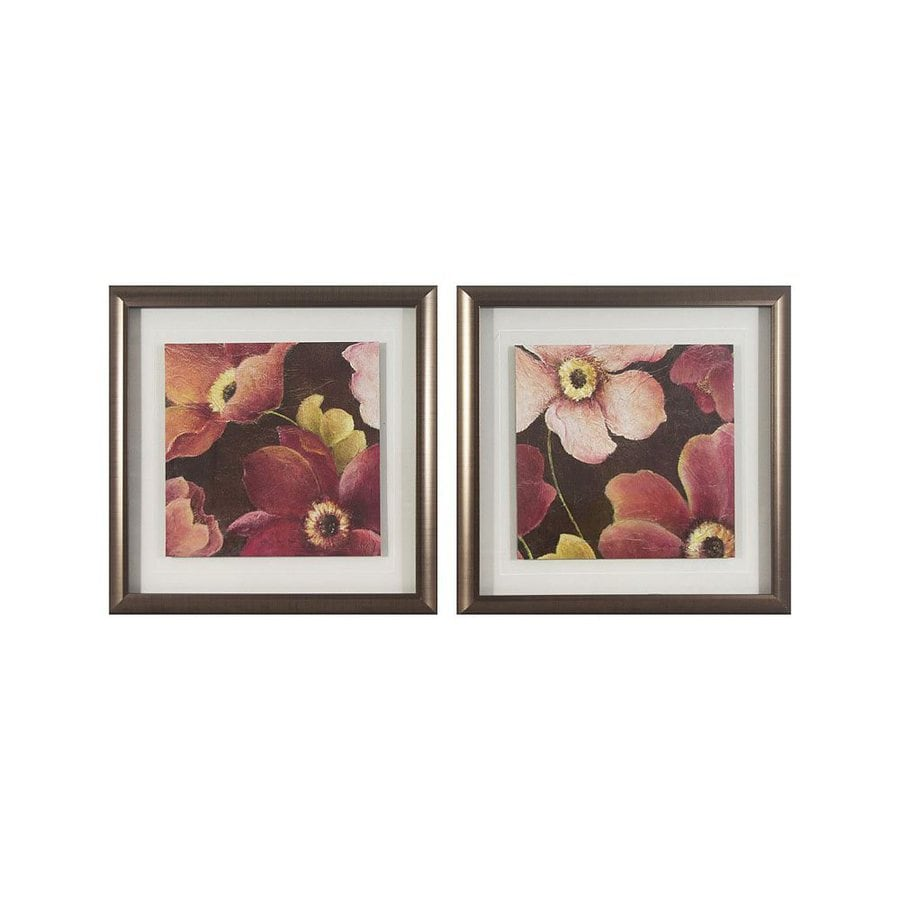 Dcor Therapy 2-Piece 16-in W x 16-in H Framed Plastic Kauai Garden Print Wall Art