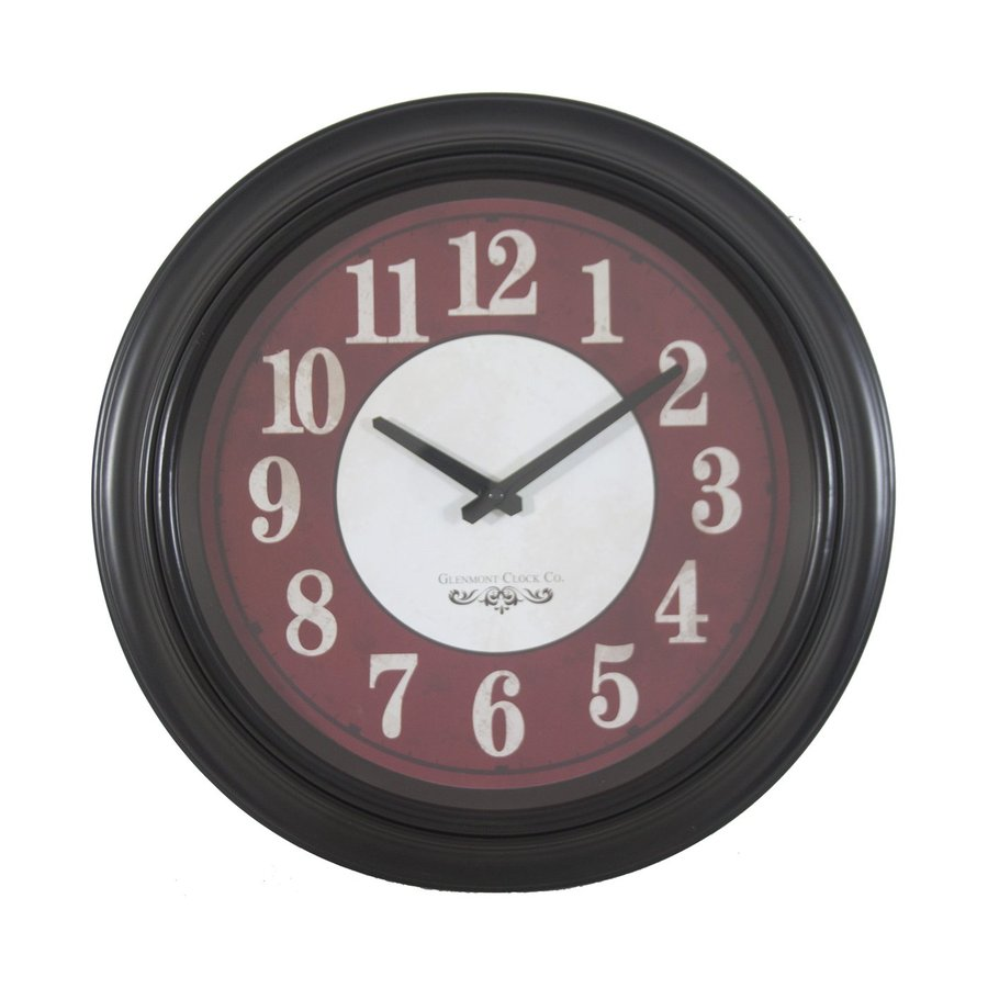 Decor Therapy Glenmont Analog Round Indoor Wall Clock