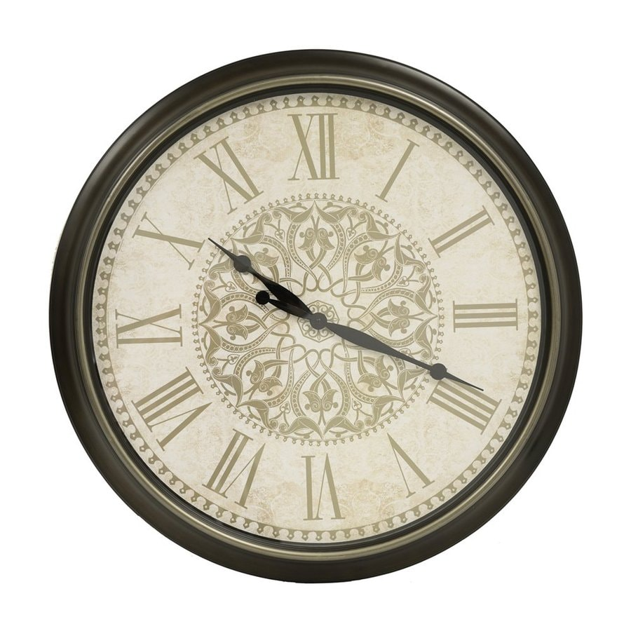 Decor Therapy Analog Round Indoor Wall Clock