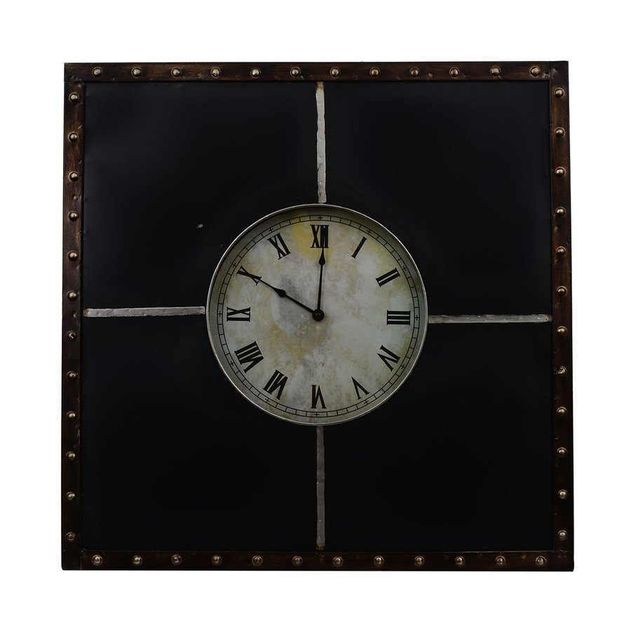 Decor Therapy Analog Square Indoor Wall Clock