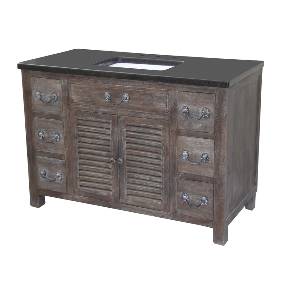 Yosemite home decor walnut genova undermount single sink - Lowes single sink bathroom vanity ...