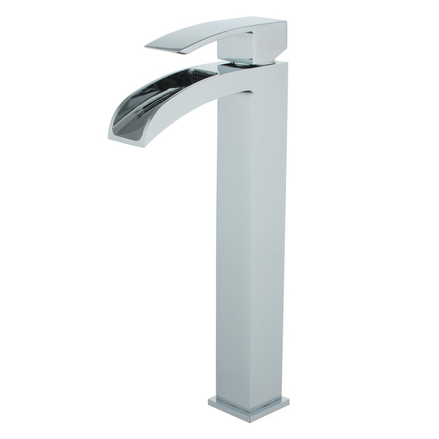 Yosemite Home Decor Polished Chrome 1-Handle Single Hole Bathroom Faucet (Drain Included)