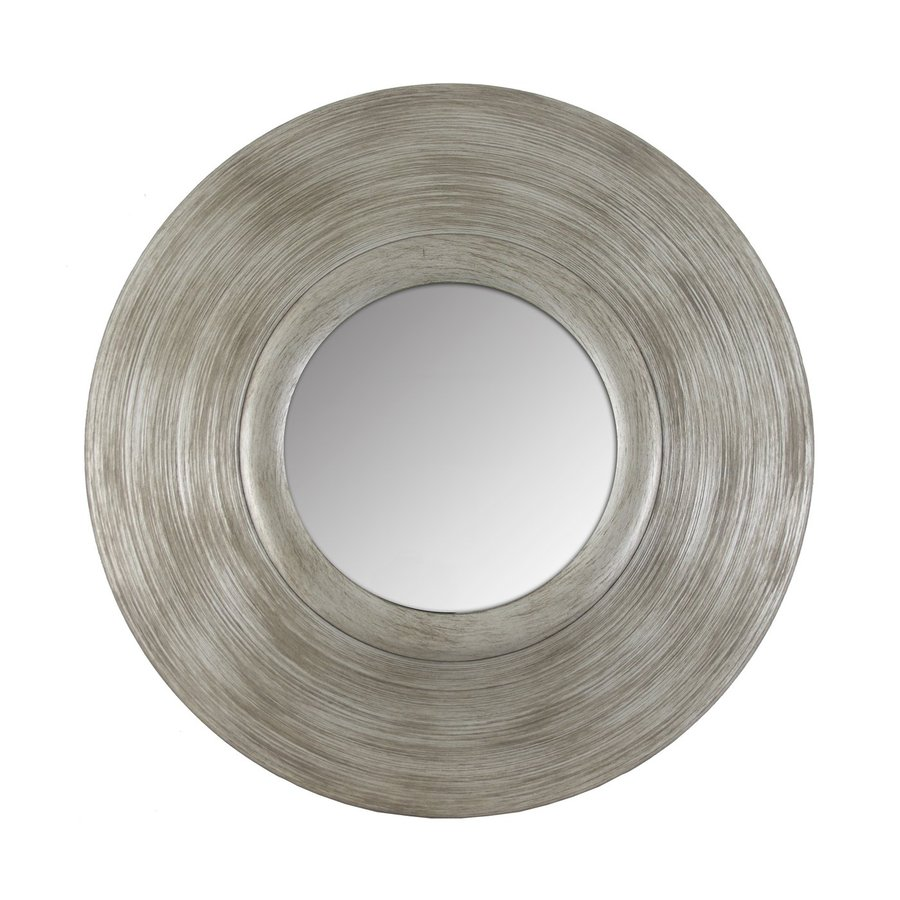 Decor Therapy Pagoda 22-in x 22-in Silver Polished Round Framed Wall Mirror
