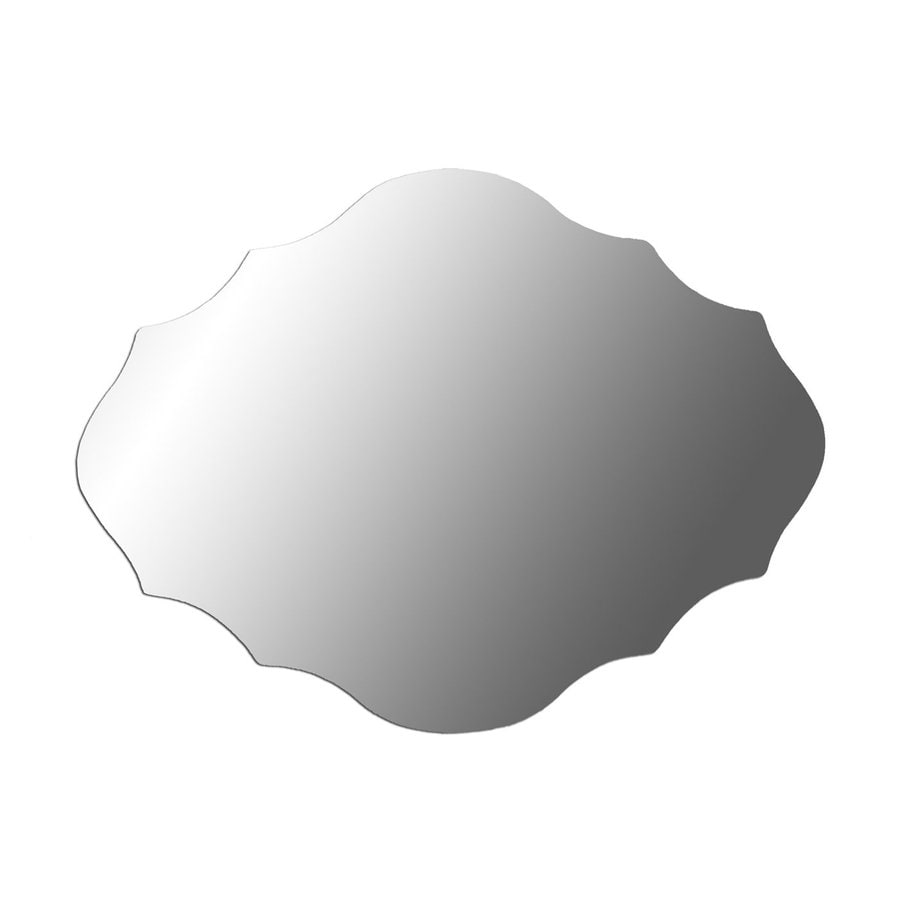 Shop decor therapy royal silver beveled frameless wall for 16 in x 60 in beveled door mirror