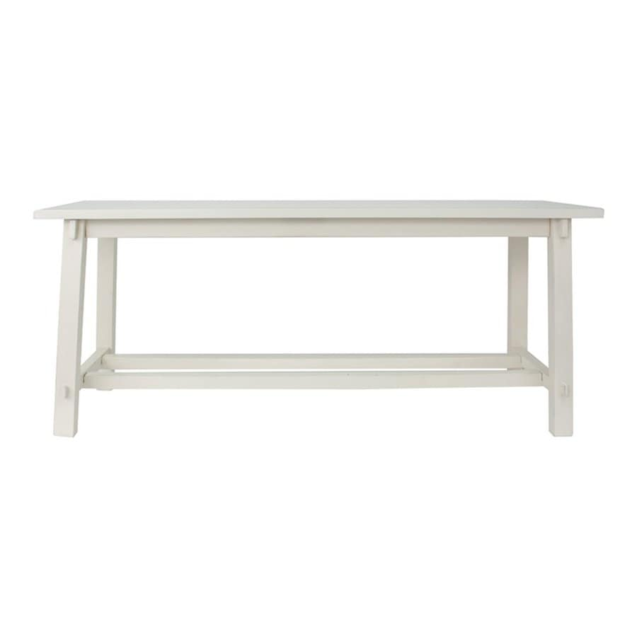Decor Therapy Kyoto Antique White Indoor Accent Bench
