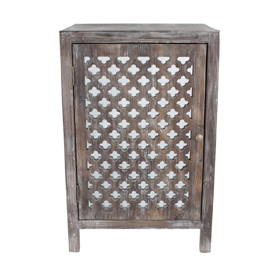 shop decor therapy distressed grey fir end table at. Black Bedroom Furniture Sets. Home Design Ideas