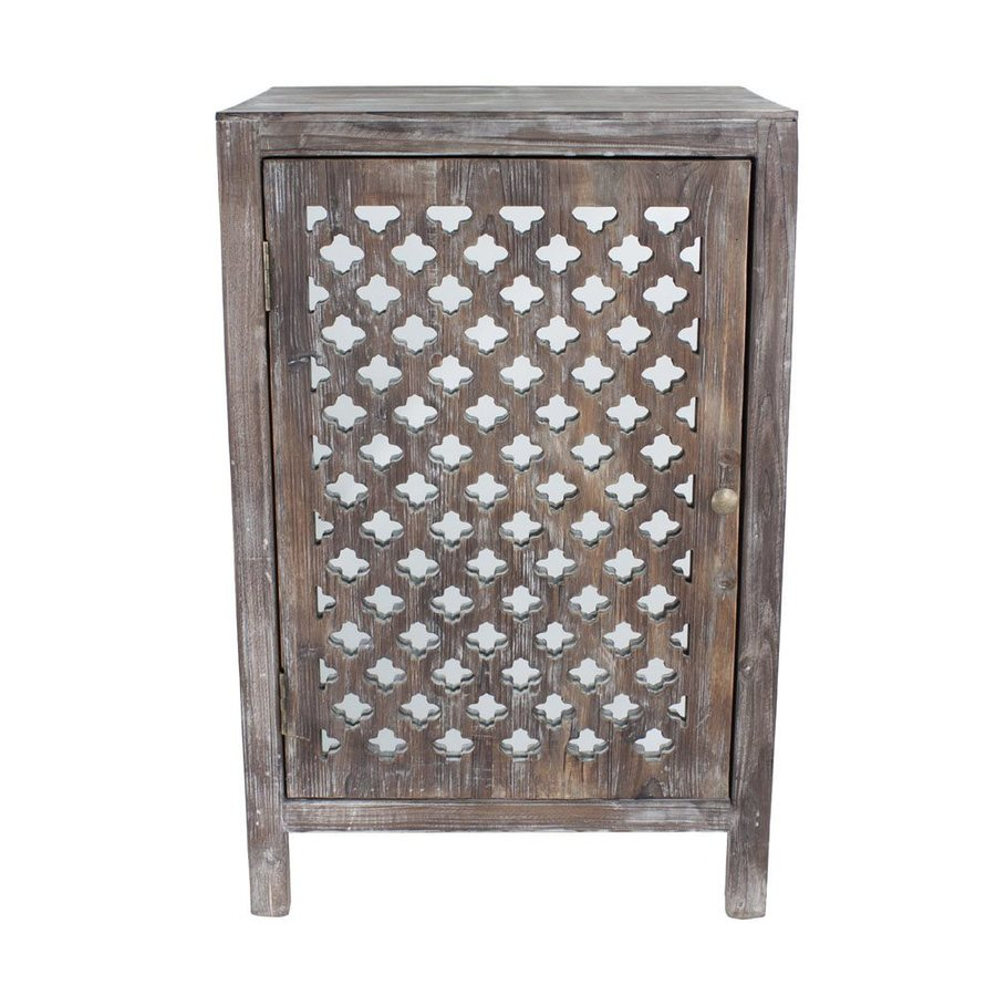Decor Therapy Distressed Grey Fir End Table