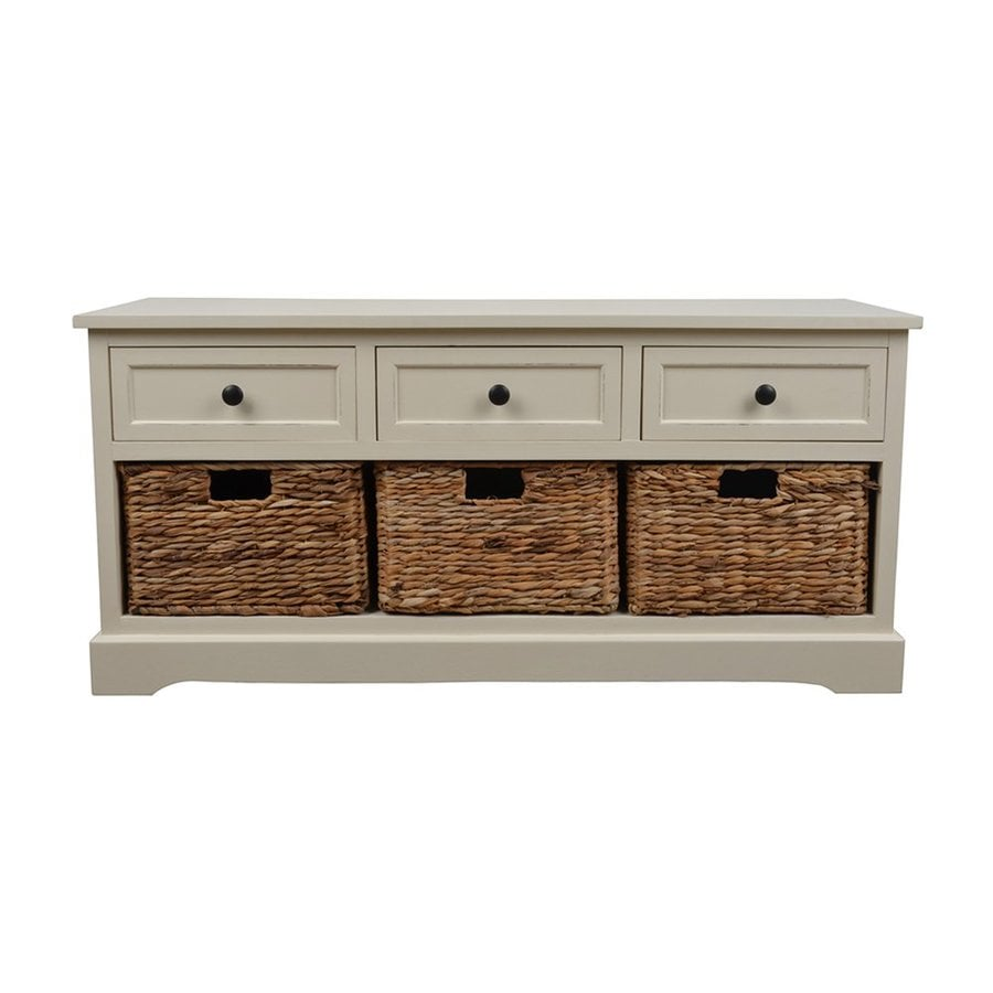 Shop Decor Therapy Montgomery Transitional White Storage Bench at ...