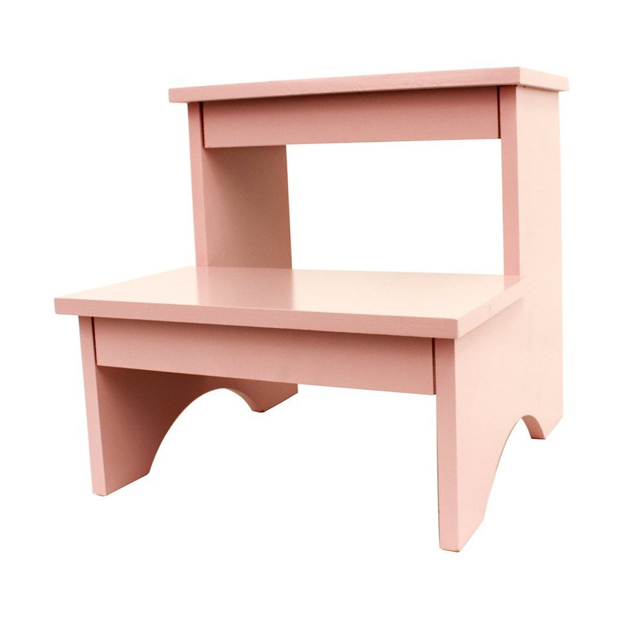 Decor Therapy 2-Step 110-lb Load Capacity Soft Pink Composite Step Stool