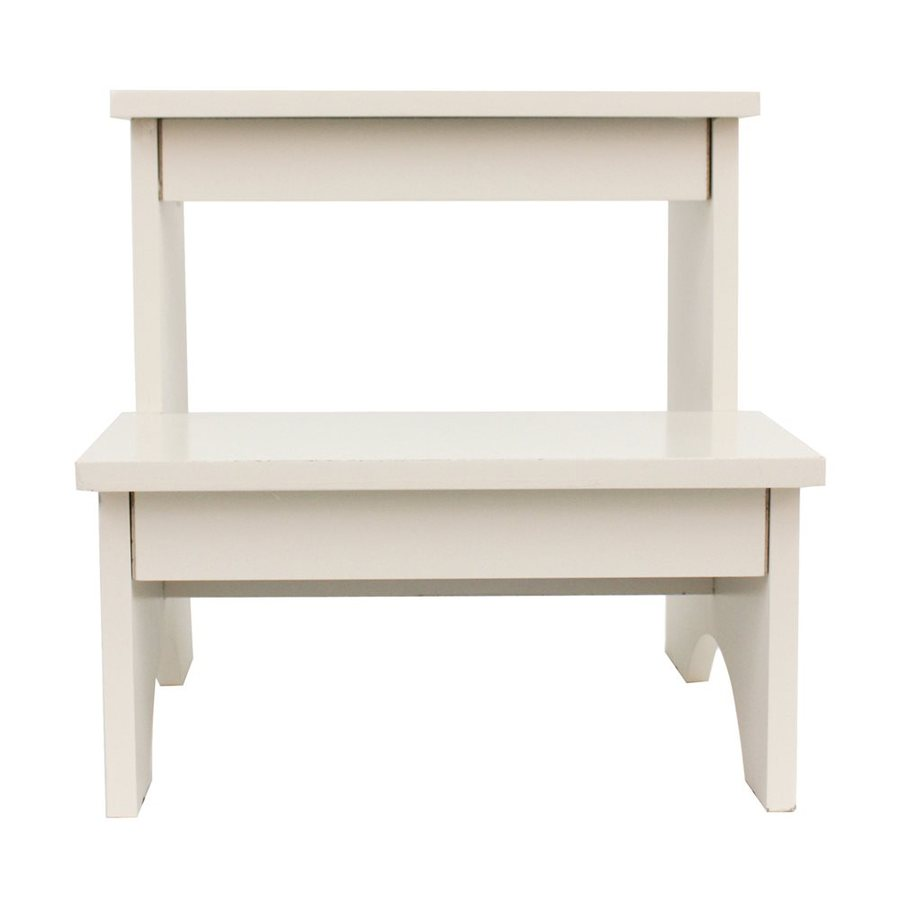 Dcor Therapy 2-Step 110-lb Load Capacity White Composite Step Stool