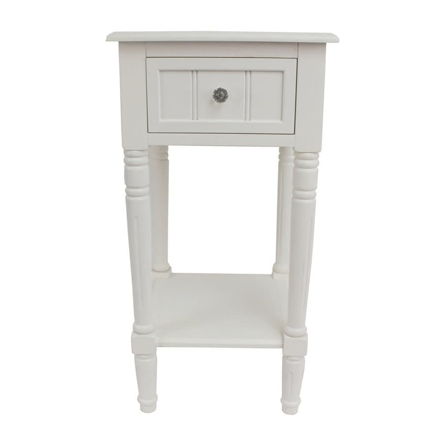 Decor Therapy White Square End Table