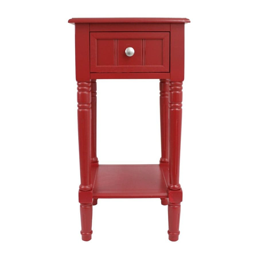 Decor Therapy Red End Table