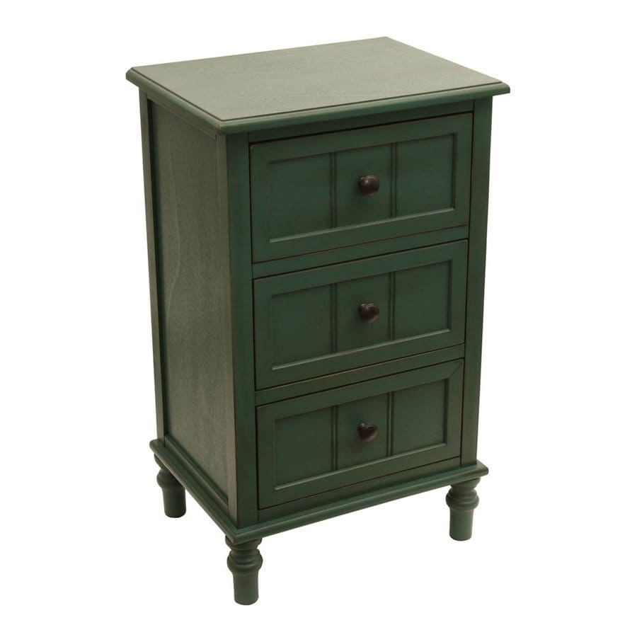 Decor Therapy Simplicity Green Composite Rectangular End Table