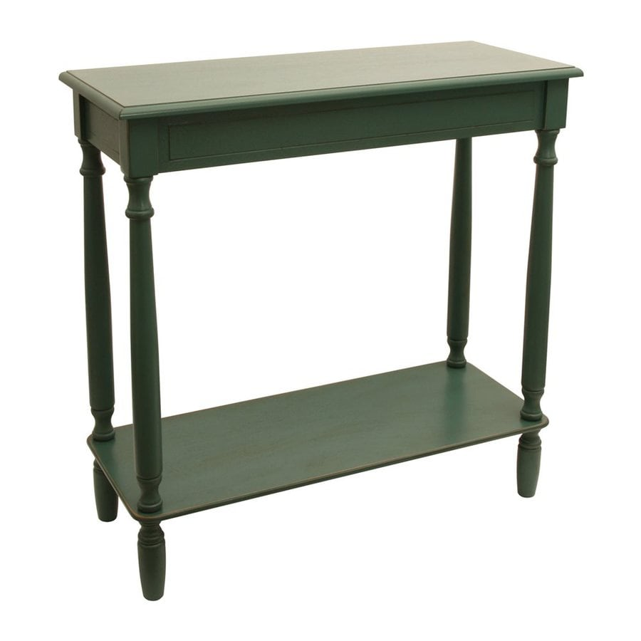 Decor Therapy Antique Teal Rectangular Console Table