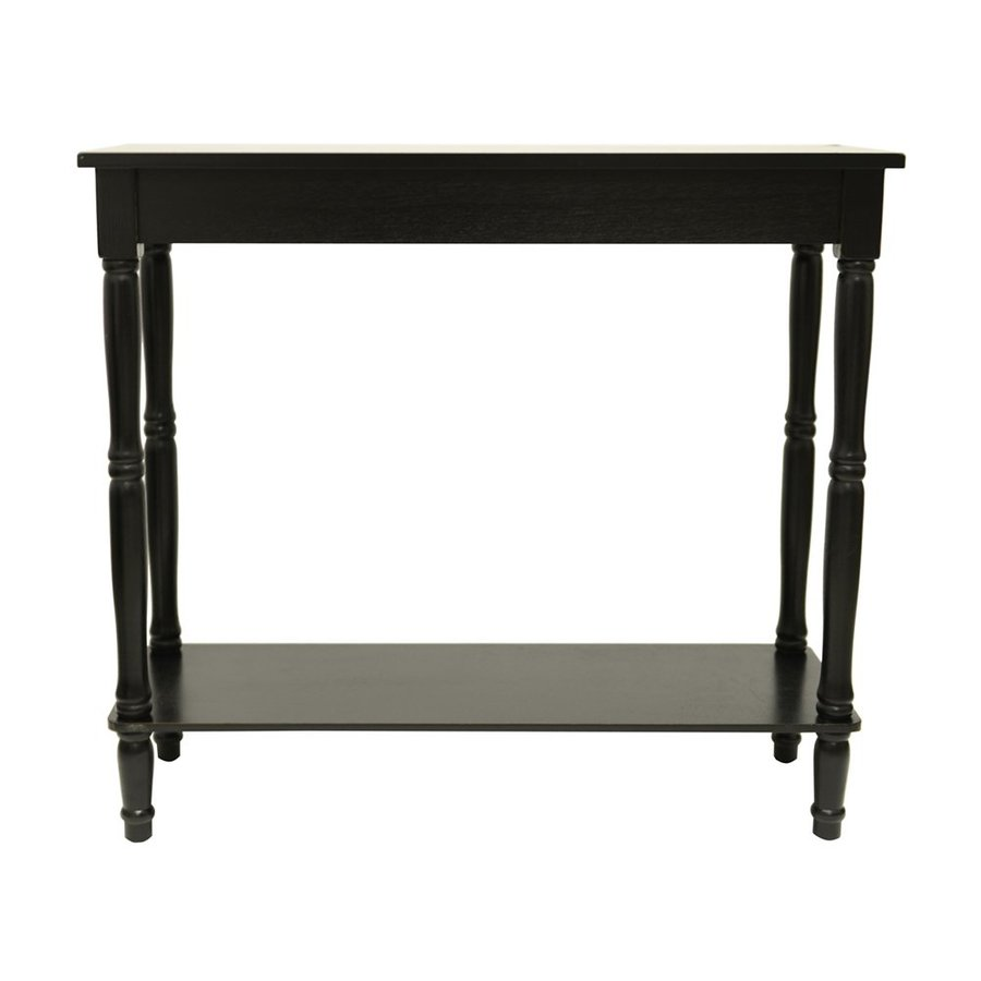 Decor Therapy Black Rectangular Console Table