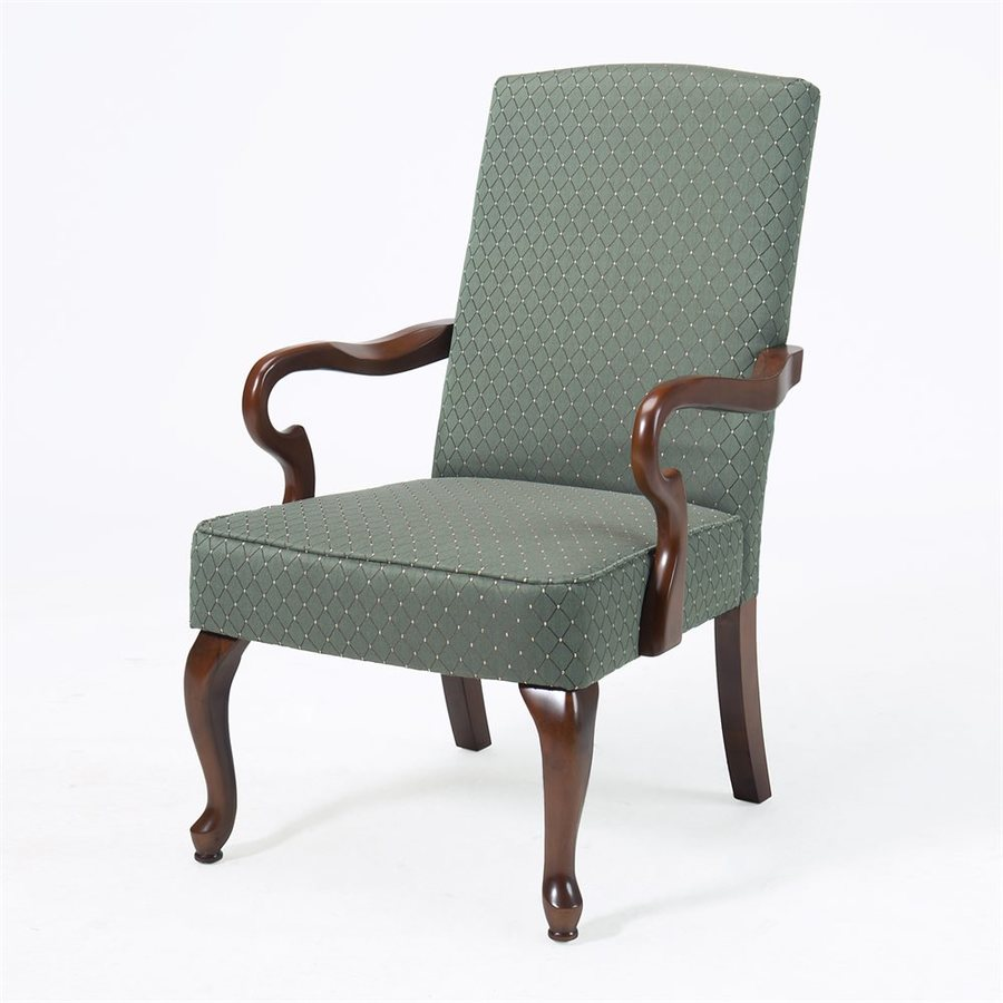 Comfort Pointe Crystal Diamond Patina Green Polyester Accent Chair