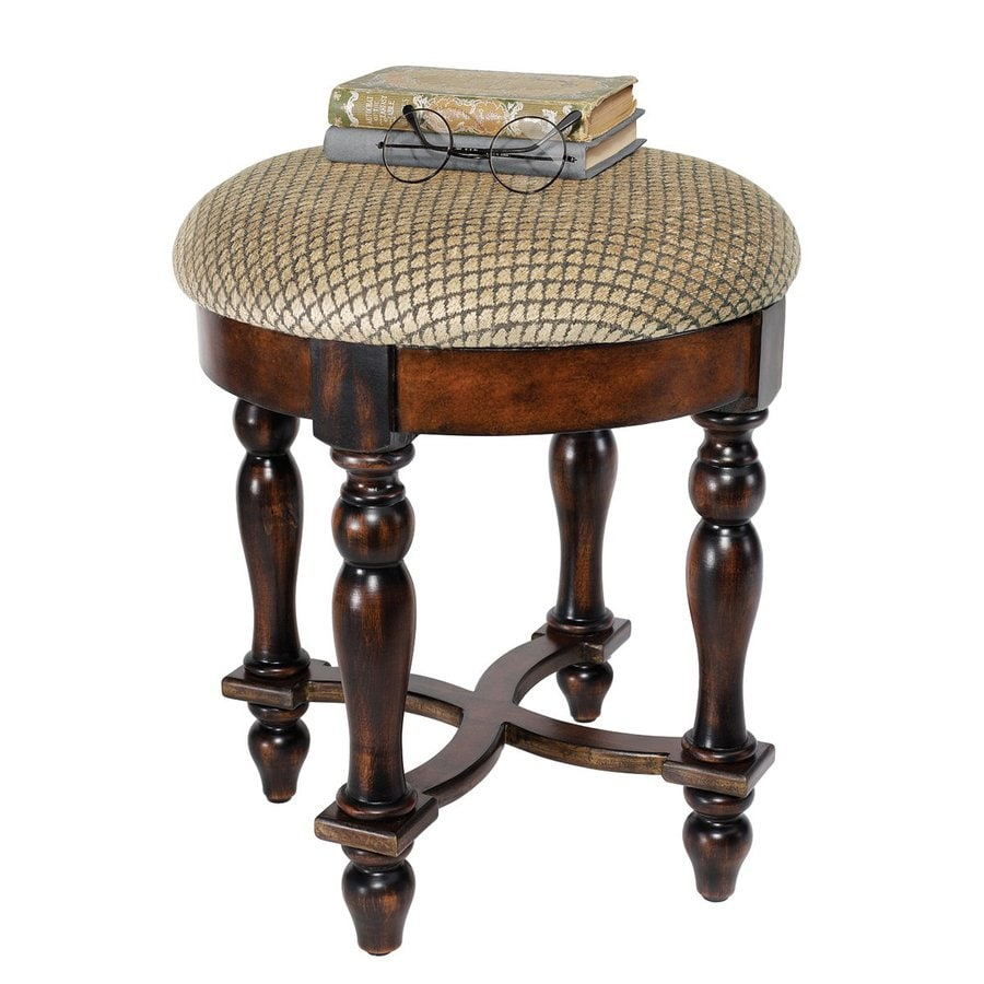 Design Toscano Grand Duchess Dark Walnut 17.5-in Small Stool