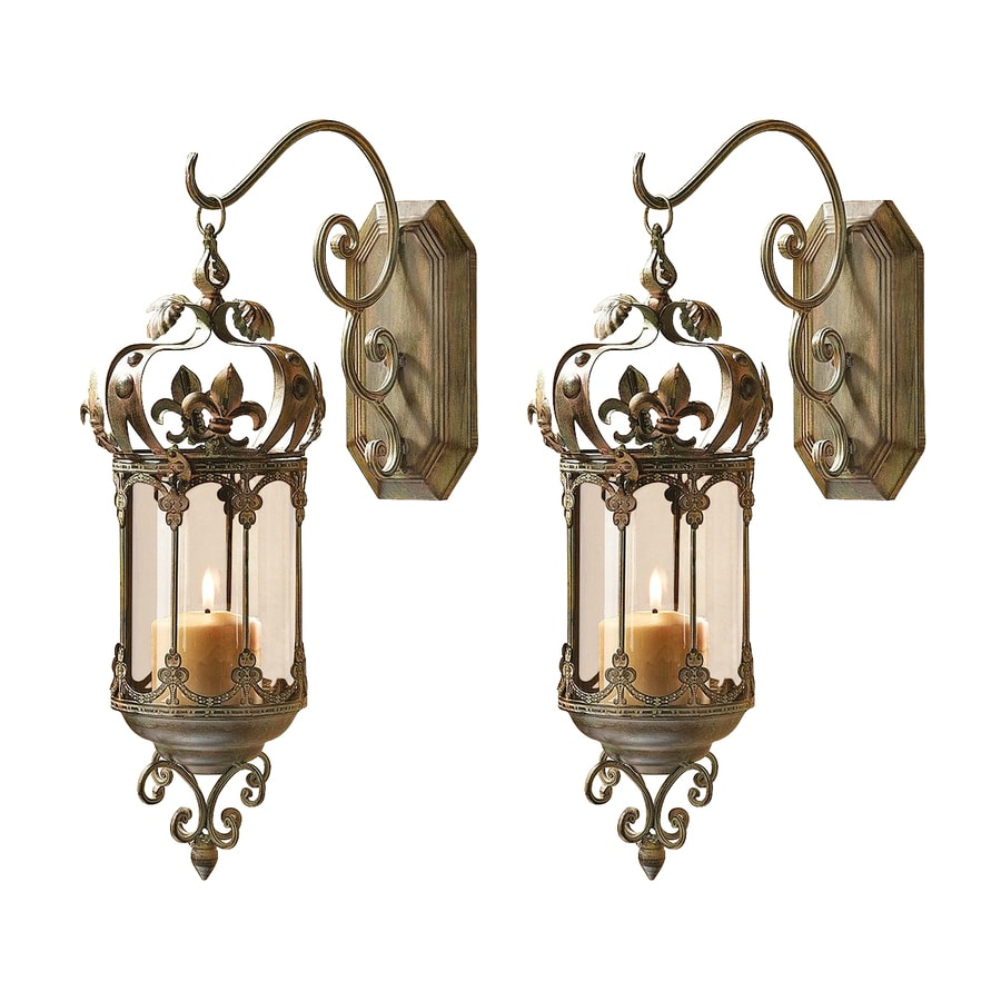 Design Toscano 1 Candle Crown Royale Metal Hurricane Candle Holder