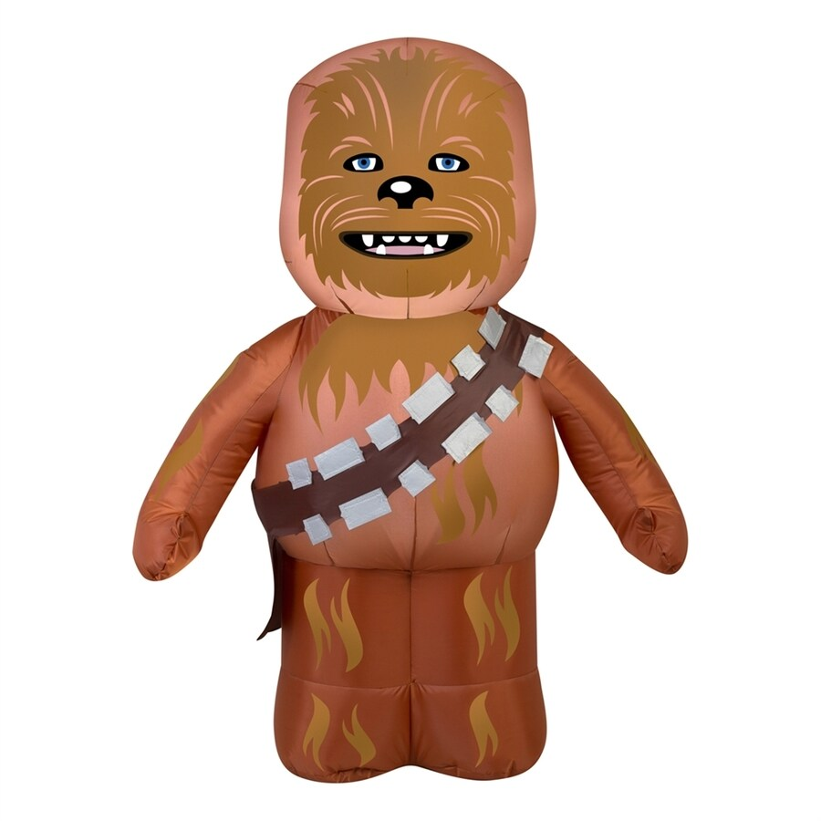 Gemmy Star Wars Chewbacca 3.51-ft x 2.59-ft Lighted Chewbacca Halloween Inflatable