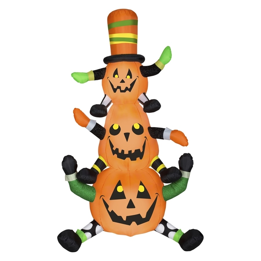Gemmy Whimsey Pumpkin Stack 7.51-ft x 4-ft Lighted Halloween Inflatable