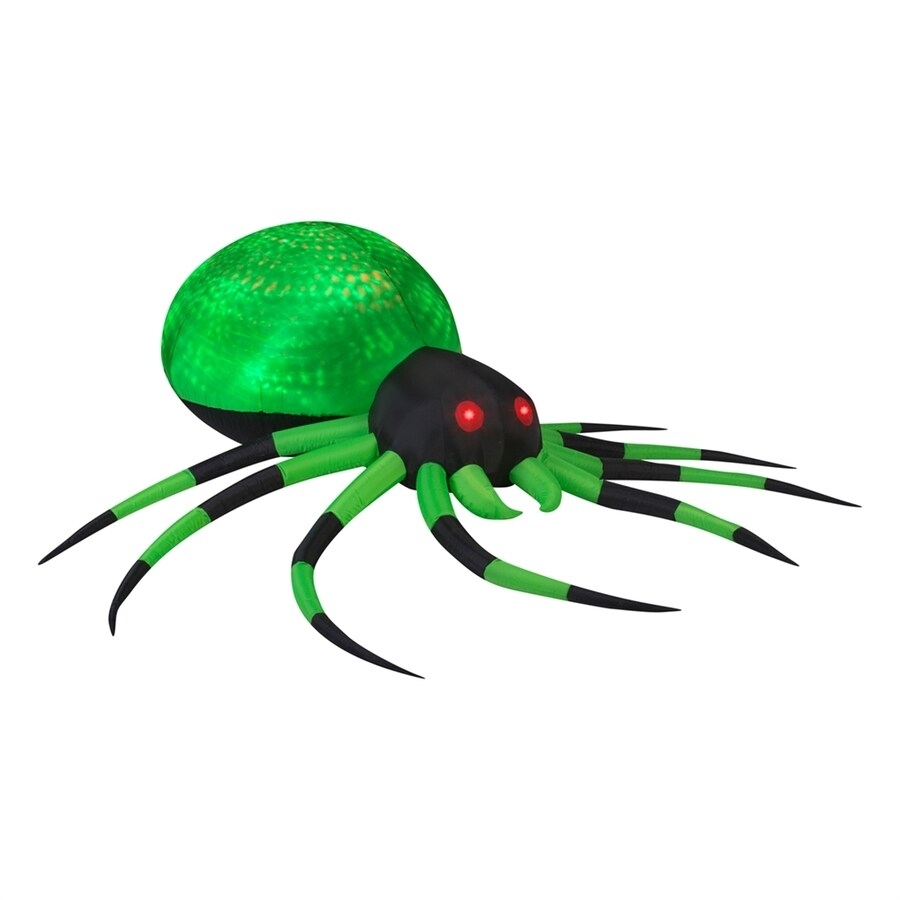 Gemmy Projection Phantasm Spider 2.62-ft x 8-ft Lighted Spider Halloween Inflatable