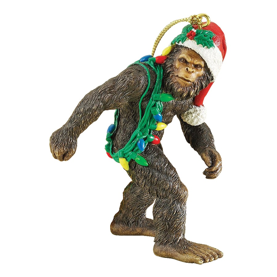 Design Toscano Bigfoot The Holiday Yeti Brown Yeti Ornament