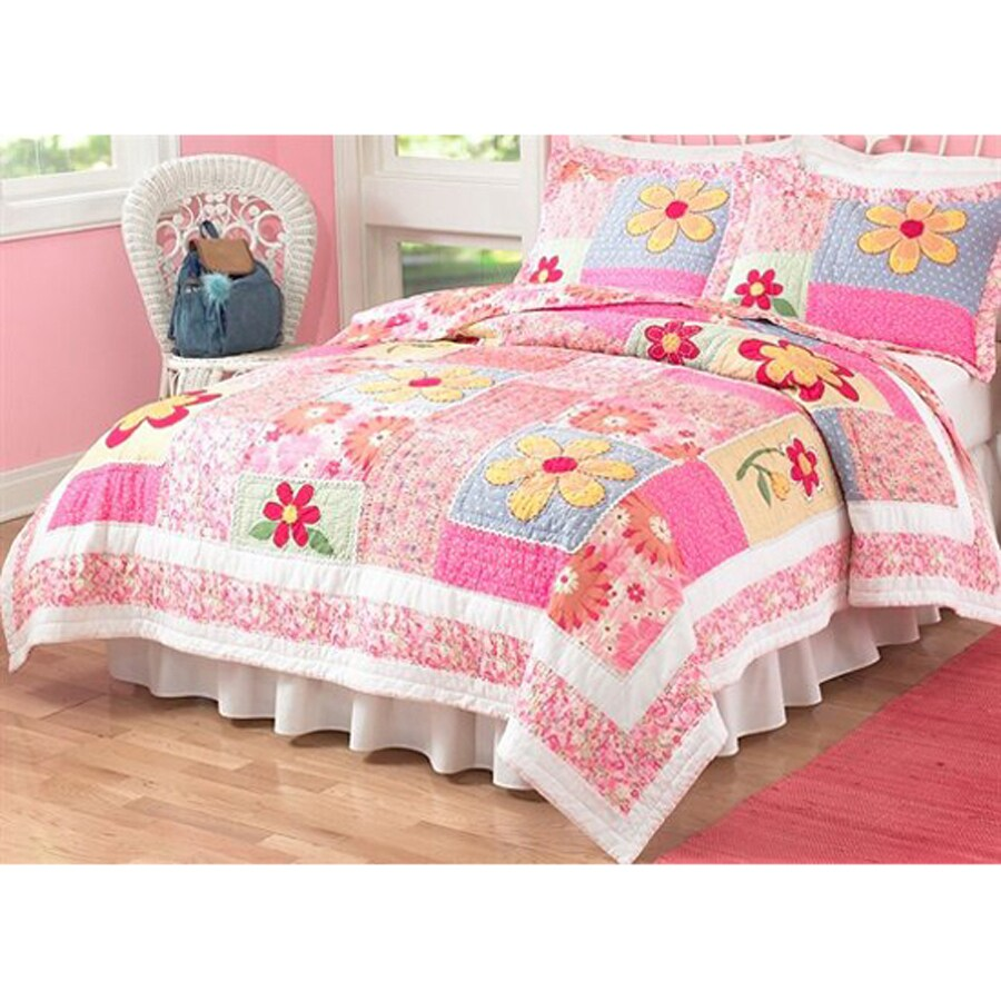 My World Olivia 3-Piece Pink Full/Queen Quilt Set