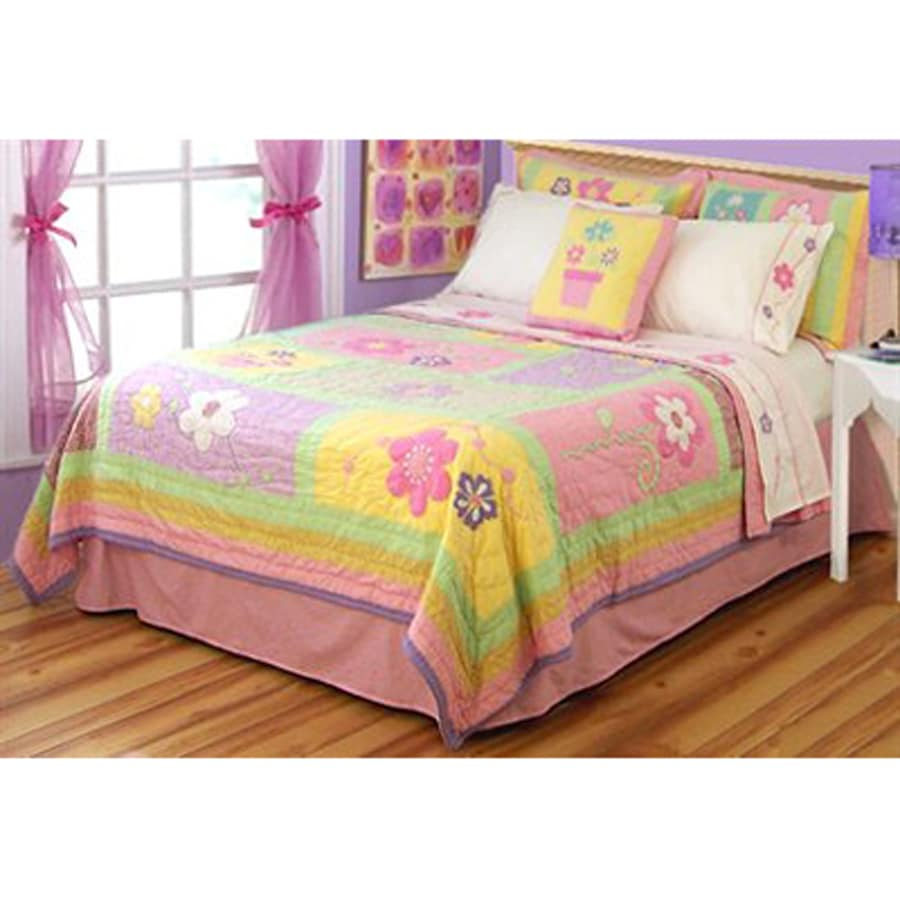 My World Sweet Helen 3-Piece Multi-Colored Full/Queen Quilt Set
