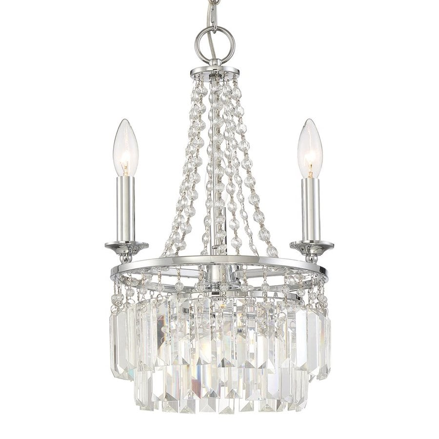 Quoizel Miramar 12.25-in 3-Light Polished Chrome Crystal Draped Chandelier
