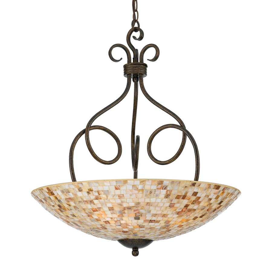 Quoizel Monterey Mosaic 23.5-in Malaga Mediterranean Single Bowl Pendant