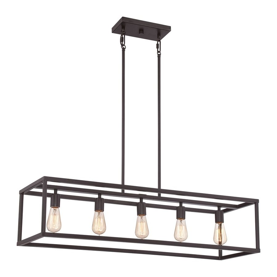 Quoizel New Harbor 38 In W 5 Light Western Bronze Kitchen Island