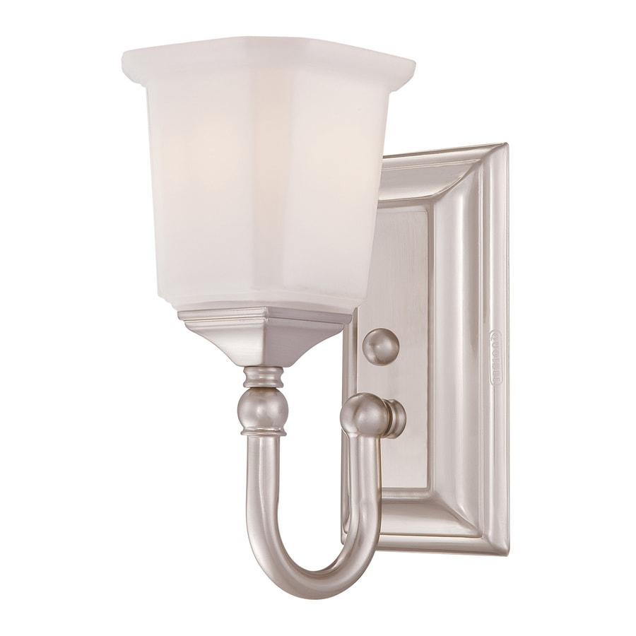 Quoizel Nicholas 1-Light Brushed Nickel Bell Vanity Light