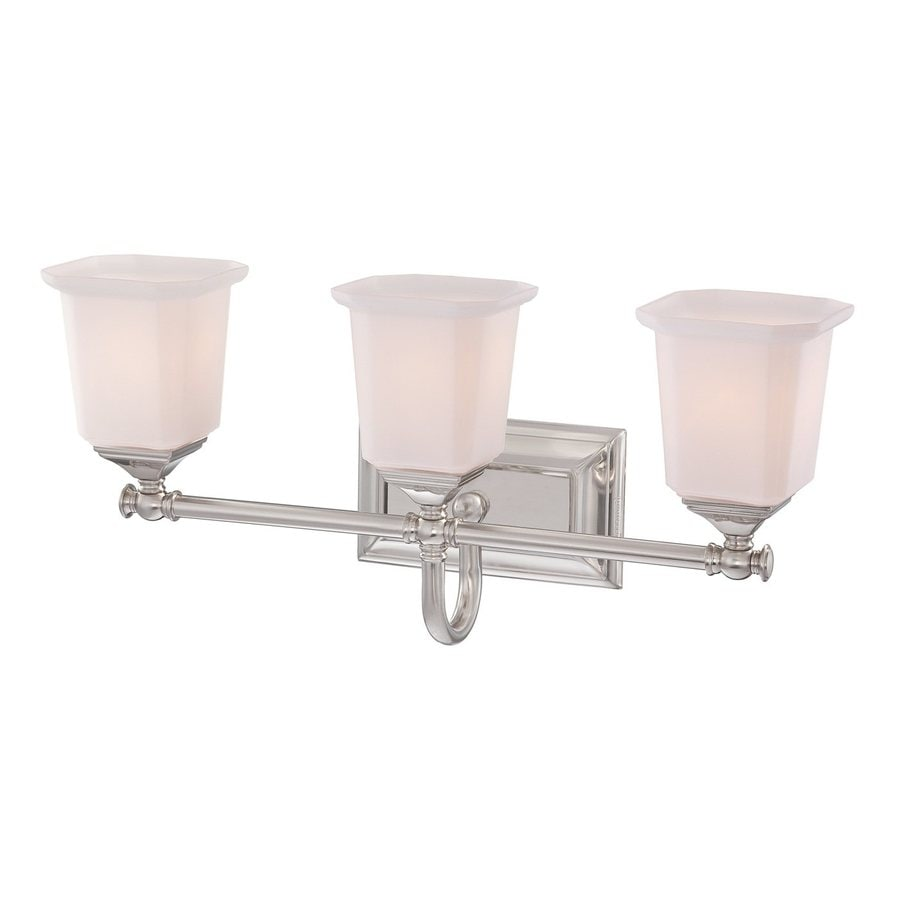 Quoizel Nicholas 3-Light 10-in Brushed Nickel Bell Vanity Light Bar