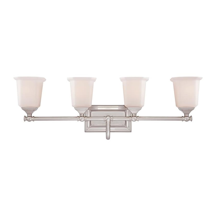 Quoizel Nicholas 4-Light 10-in Brushed nickel Bell Vanity Light Bar