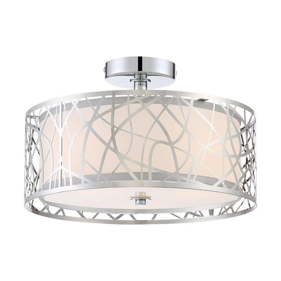 Quoizel Platinum 15-in W Polished Chrome Metal Semi-Flush Mount Light