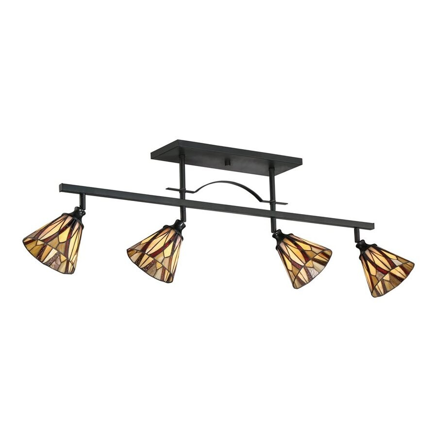 Quoizel Victory 4-Light 43-in Valiant Bronze Dimmable Fixed Track Light Kit