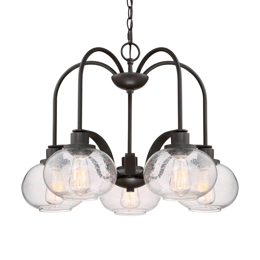 Shop Quoizel Trilogy 26 In 5 Light Old Bronze Industrial