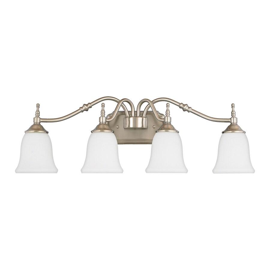 Quoizel Tritan 4-Light 9.63-in Brushed Nickel Bell Vanity Light Bar