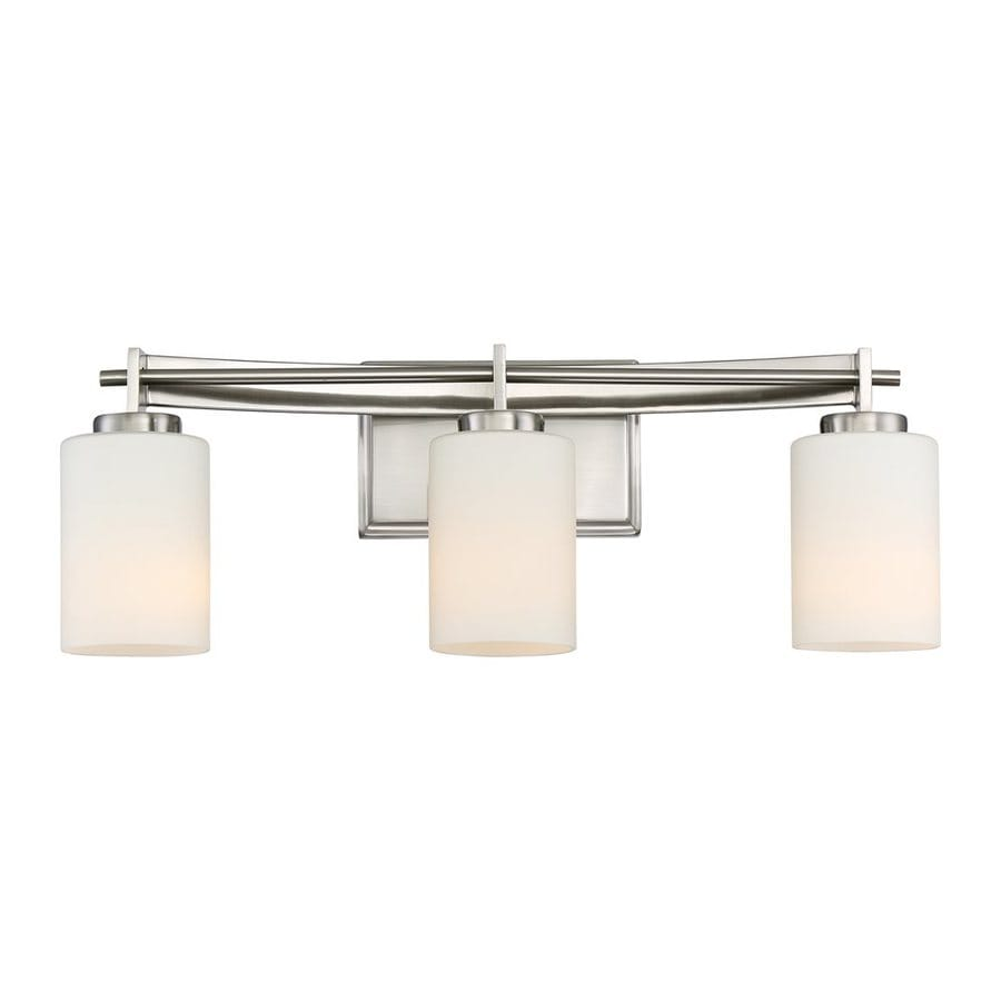 Quoizel Taylor 3-Light 7.5-in Brushed Nickel Cylinder Vanity Light Bar