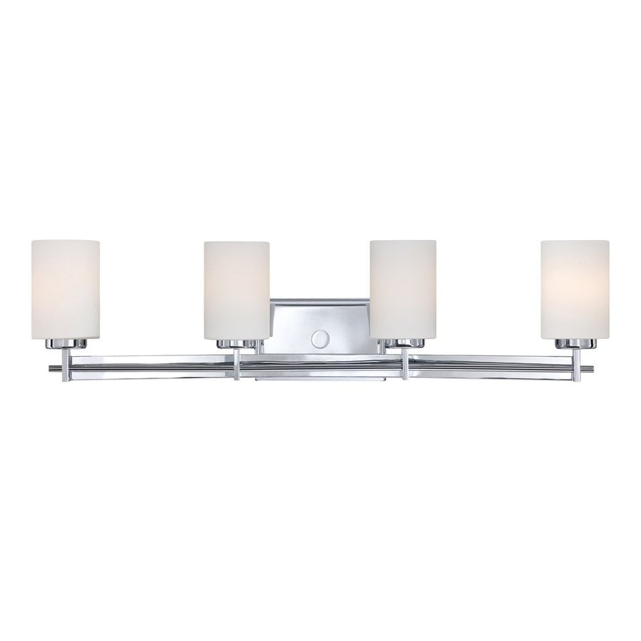 Vanity Light Bar Installation : Shop Quoizel Taylor 4-Light 7.5-in Polished chrome Cylinder Vanity Light Bar at Lowes.com