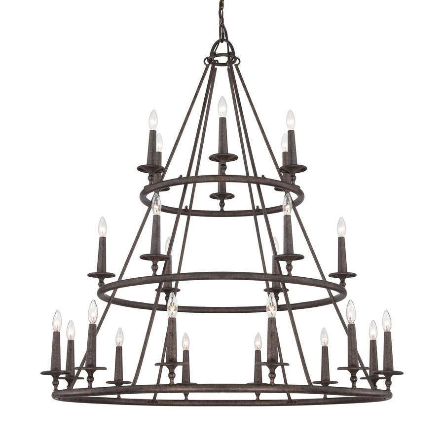Quoizel Voyager 48-in 24-Light Malaga Rustic Tiered Chandelier
