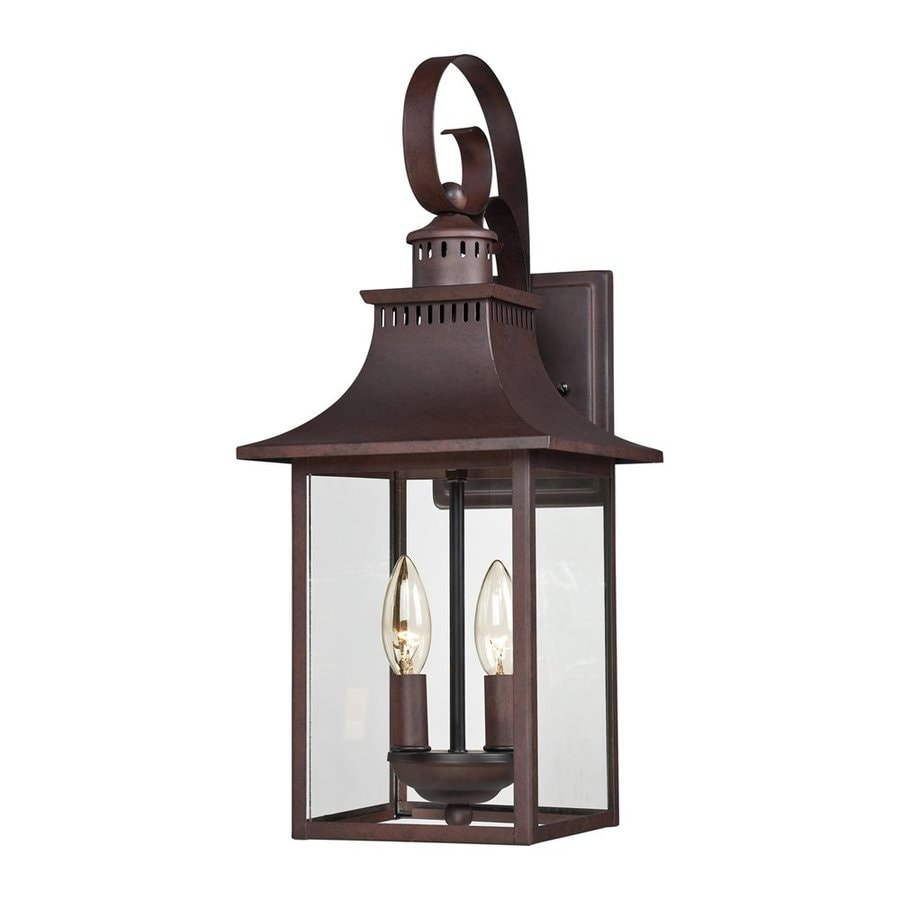 Quoizel Chancellor 19-in H Copper Bronze Candelabra Base (E-12) Outdoor Wall Light